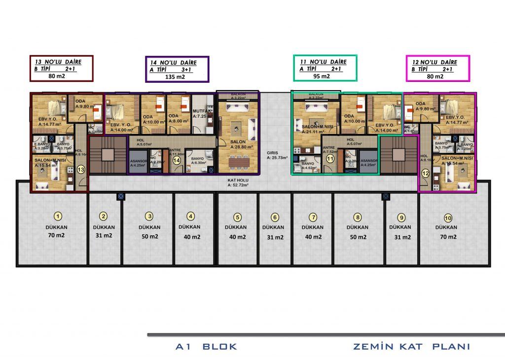 A1 الطابق الأرضي بلوك