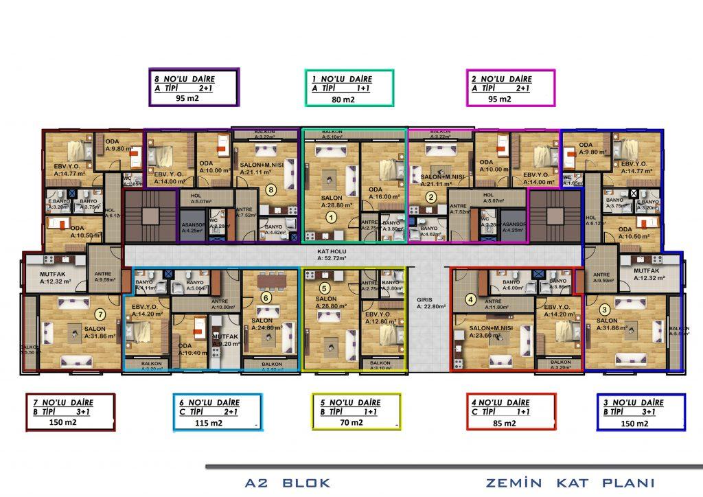 A2 الطابق الأرضي بلوك
