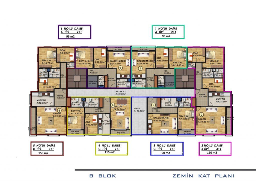 B الطابق الأرضي بلوك